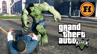 HULK CHALLENGE in GTA 5! Mod Gameplay!