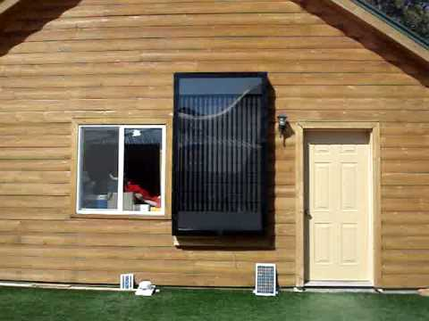 Soda pop beer can Solar Powered heater furnace panel - Part 3