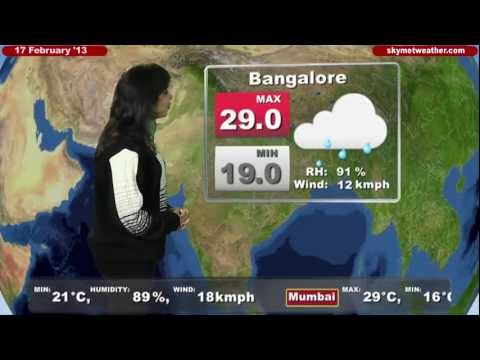 Skymet Weather Report - India February 17, 2013