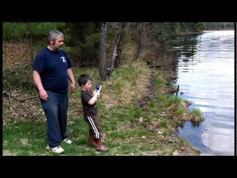 Trout Fishing with Johnny in the White Mountains of New Hampshire.mpg