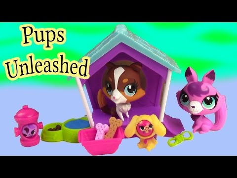 LPS Pups Unleashed Playset Collie Puppy Dog Fox Play Clubhouse Playdoh Cookieswirlc