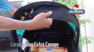 CARA MENGGUNAKAN STROLLER Pliko baby stroller 568 milano
