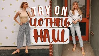 MASSIVE TRY ON CLOTHING HAUL! (FOREVER 21, H&M, & AMERICAN EAGLE!)