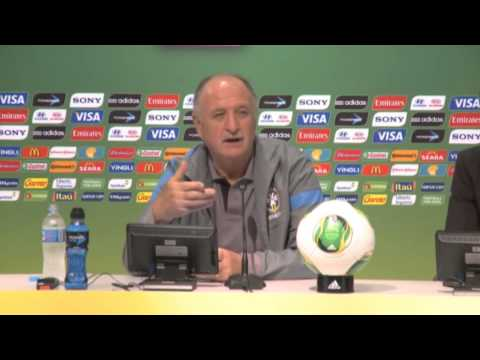 Brazil vs Spain - Confederations Cup - Scolari press conference
