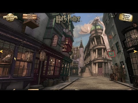 Diagon Alley. Knockturn Alley virtual tour in Wizarding World of Harry Potter at Universal Orlando