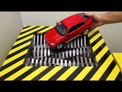 EXPERIMENT Shredding BMW X6 and Toys