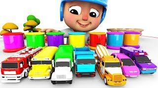 Learn Colors & Learn Street Vehicles Name w Surprise Eggs Toys for Children #h Little Baby Cartoons