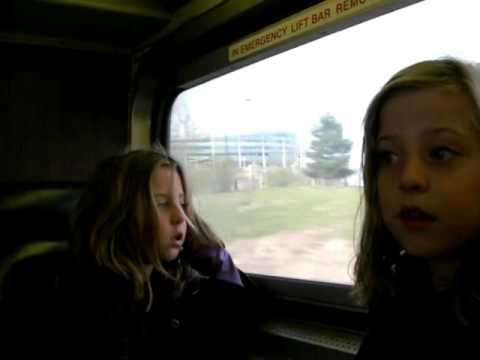 Ride by twin sisters on the Metra Electric rail service (Chicago to University Park line) from and to Van Buren Street Station to and from Hyde Park (55th-56...
