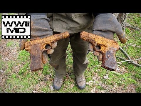 World War II Metal Detecting - German Pistols - Eastern Front Battlefield Relic Hunting (HD)