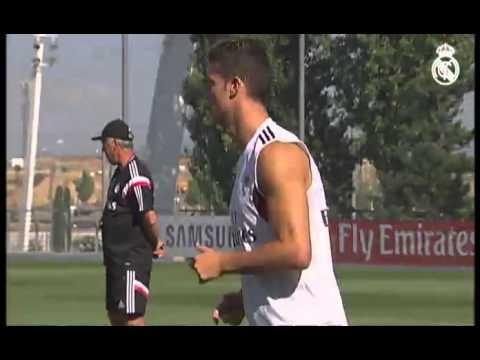Así fue el primer entrenamiento de James Rodríguez con Cristiano.