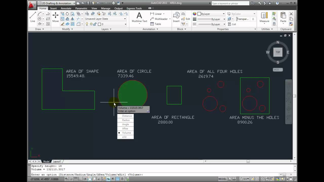 Autocad 2011 Tutorial Measuring Volume Youtube