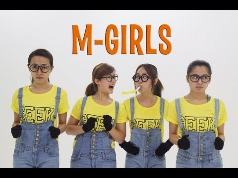 M-GIRLS VS MINION BANANA SONG [OFFICIAL VIDEO]