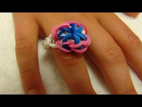 Как из резинок плести кольцо из резинок