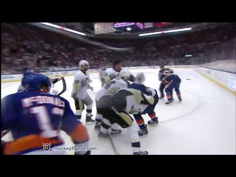 Evgeni Malkin vs Travis Hamonic May 7, 2013