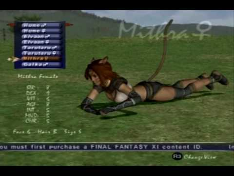 Final Fantasy XI - Mithra Character Creation Video