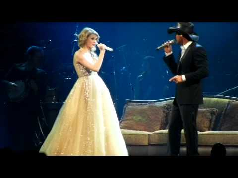 Taylor Swift and Tim McGraw sing