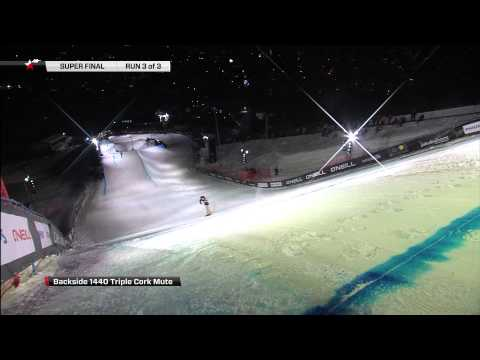 Maxence Parrot - Backside 1440 Triple Cork - O'Neill Evolution 2013 - Superfinal