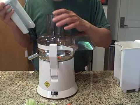 Juicing with the Lequip 215XL Big Mouth Juicer compared to the Jack Lalanne Juicer