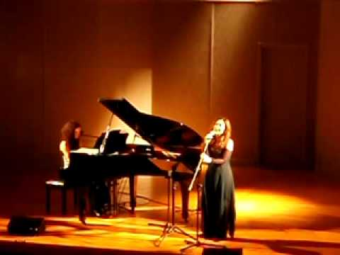 Savina Giannatou, Agapi pou egine dikopo maxairi, singing with piano, Chanea 10-03-10