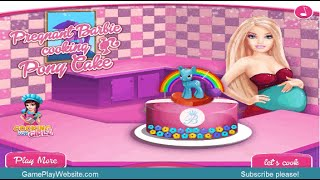 Pregnant Barbie Cooking Pony Cake Online Game - Baby Girl Cooking Games - Let