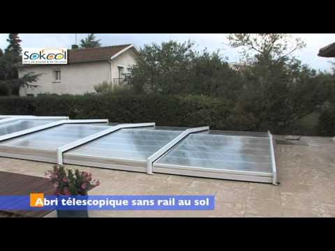 Abris de piscines kandis extra bas youtube for Abri piscine kandis
