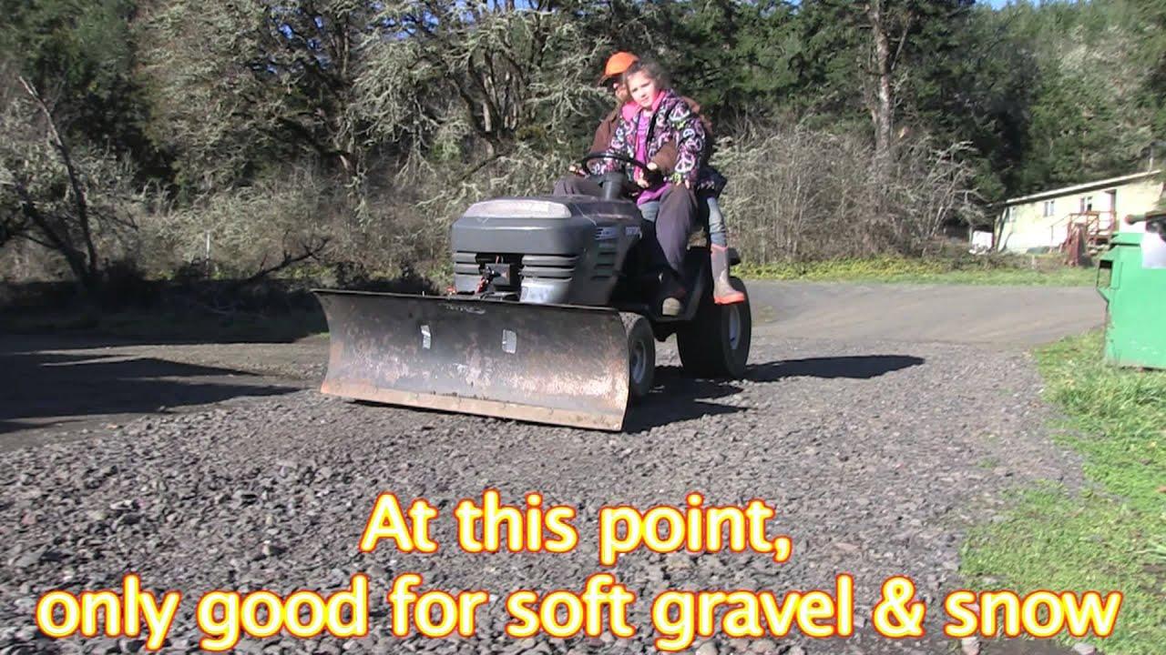 Lawnmower Bulldozer Diy Cheap Youtube