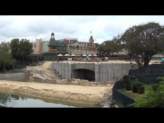 Magic Kingdom Hub Expansion Progress Update at Walt Disney World, September 2014