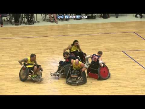 SPS Kørestolsrugby: Denmark Wheelchair Rugby Challenge 2013 - Finale - Australien Vs. USA