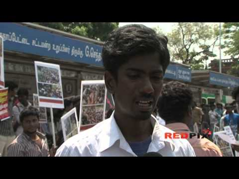 Sri Lankan Tamil Issue - Governor House sieged by College students [RED PIX]