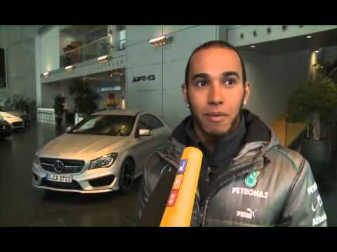 MERCEDES AMG PETRONAS driver Lewis Hamilton makes his first appearance as a works Silver Arrow driver in Stuttgart, Germany.