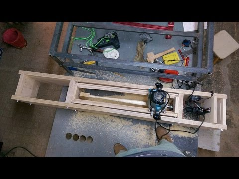 Router-based wood lathe made from birch plywood HD