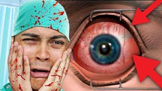YOU CAN'T WATCH THIS TILL THE END (Laser Eye Surgery Game)