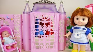 Baby doll house and bed with closet toys baby Doli play