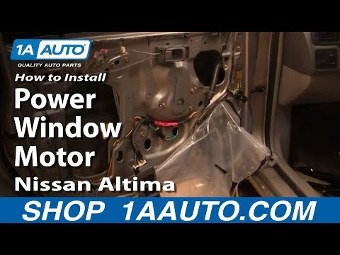 How To Install Replace Power Window Motor Nissan Altima 98-01 1AAuto.com