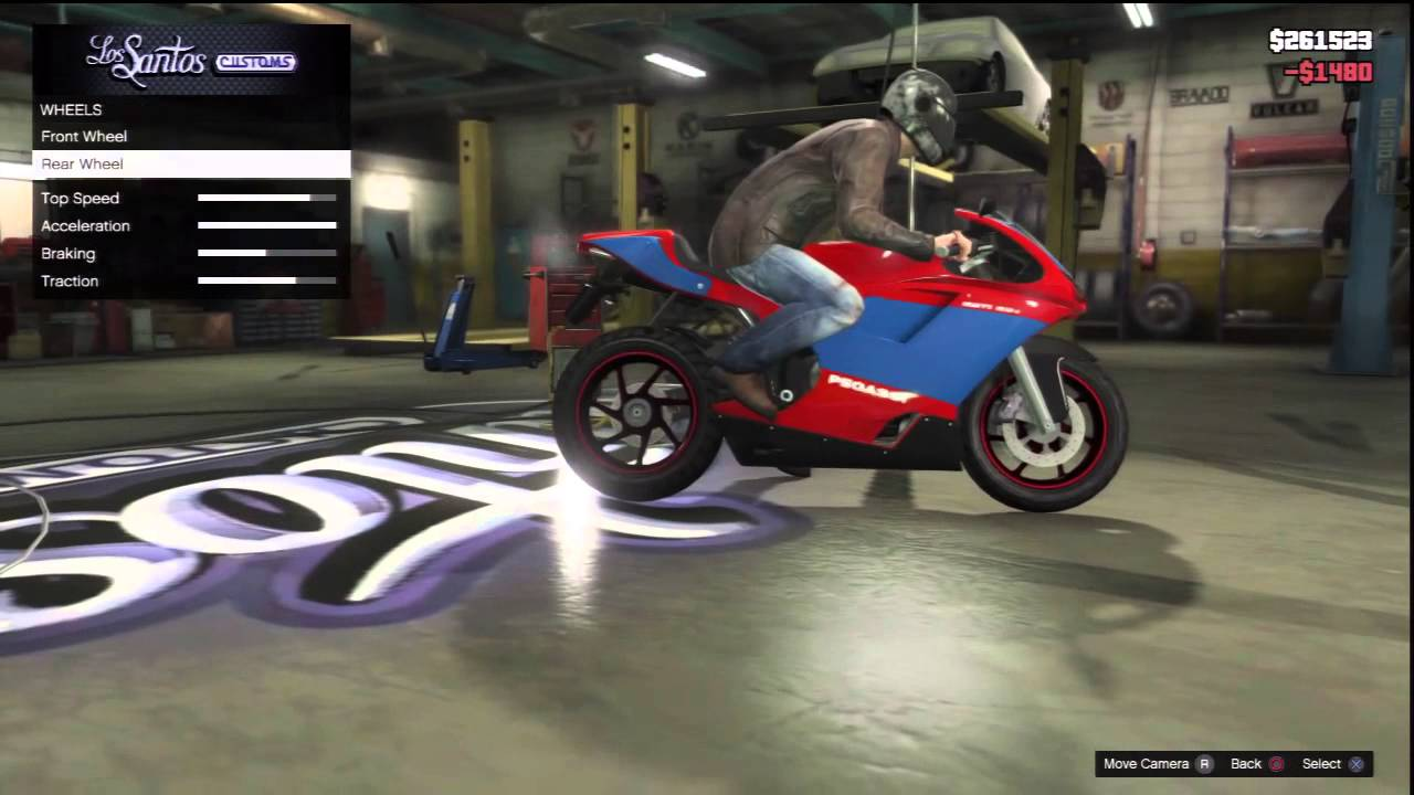 Gta V Motorbike Customization Pegassi Bati 801