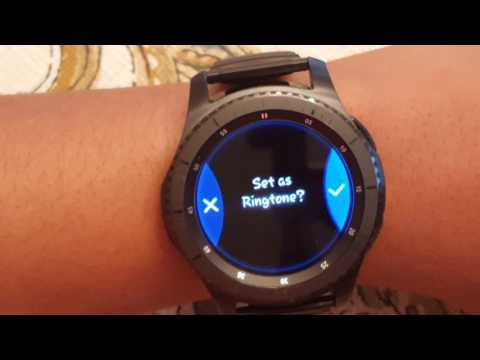 Samsung Gear S3   How to get CUSTOM RINGTONES 🎵🎵🎵🎵