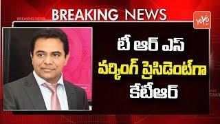 Breaking News : KTR Appointed As TRS Working President   Telangana News   CM KCR
