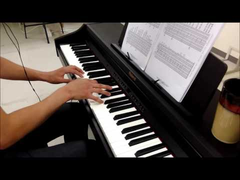 Young man in our Shanghai office plays Bach's Prelude No.1 in C Major