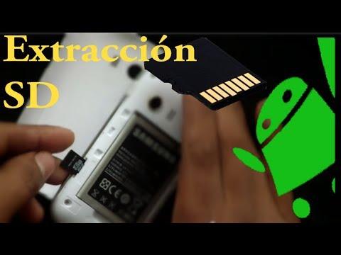 Desmontar y Extraer Memoria oTarjeta SD de Samsung Galaxy Young