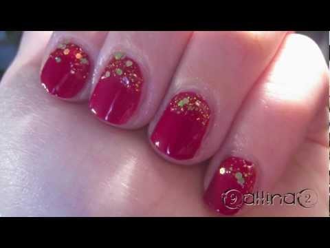 Nail art tutorial 76 unghie natalizie facili e veloci for Decorazioni natalizie unghie
