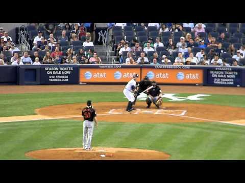 Nick Swisher Vs Miguel Gonzalez Strikeout 8/31/12 HD