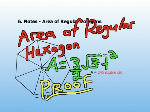 Area of a Regular Hexagon - Simple Proof and other Properties