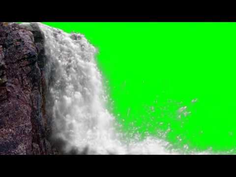 FREE HD Green Screen JUNGLE WATERFALL