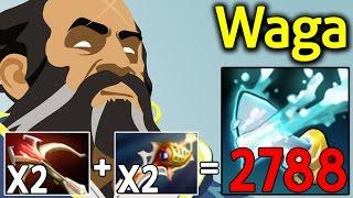 Insane 2788 Crit with 2x DAEDALUS 2x Rapier Kunkka by Waga 7.06 Dota 2