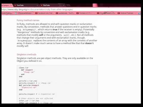 ruby programming tutorial 4