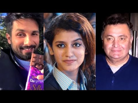 Bollywood Celebrities React To Internet Sensation Priya Prakash Varrier |
