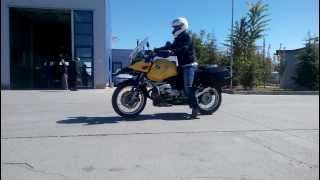 BMW 1150GS ABS Test - Panic brake