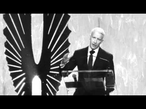 ANDERSON COOPER Accepts Vito Russo Award at GLAAD AWARDS from MADONNA 3.16.13