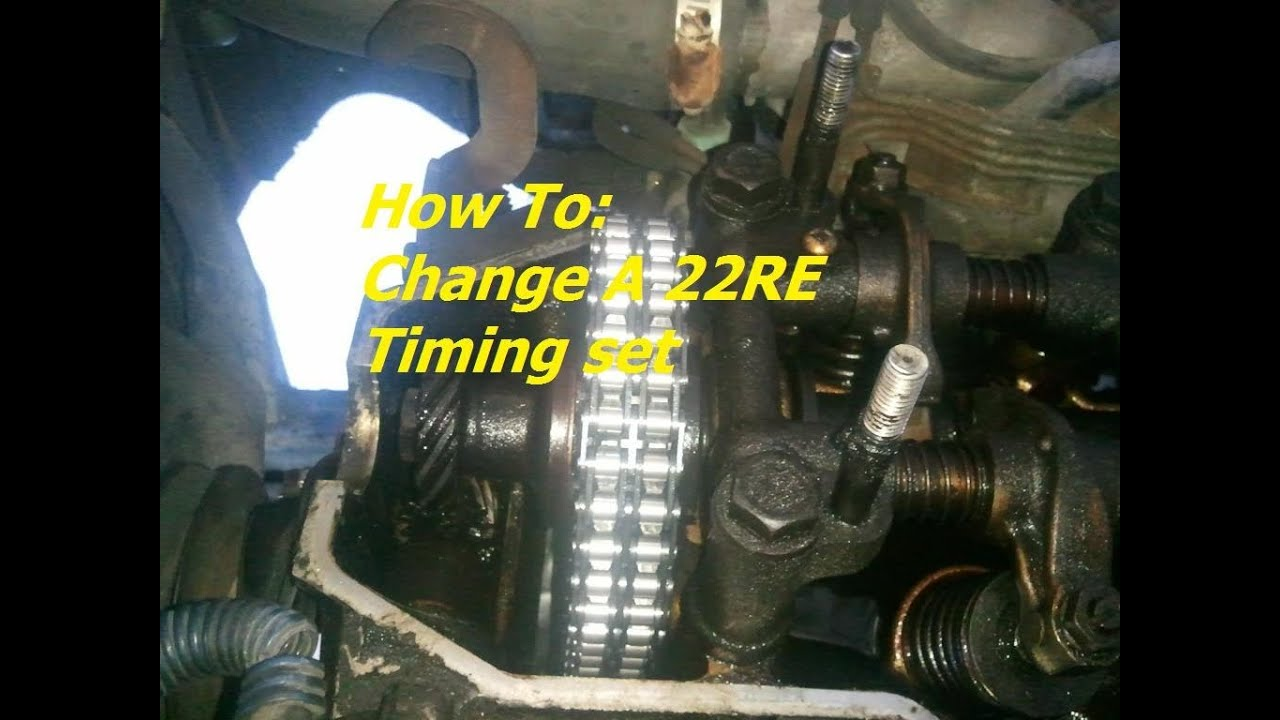 How To Change A 22re Timing Set Youtube