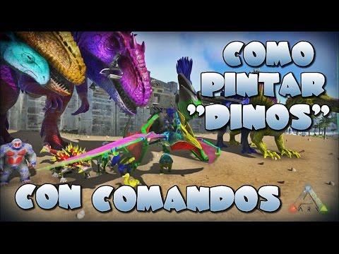 Como Pintar Dinosaurios con comandos - Ark Survival Evolved xbox ...